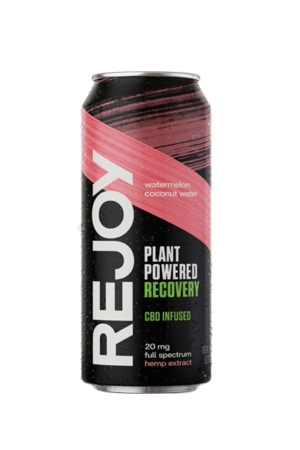 REJOY Watermelon is a natural, light, refreshing CBD recovery drink with no artificial flavoring or taste. Made with only six plant-based ingredients, you can rehydrate and recover from training and everyday work-outs with the cleanest, simplest, and most effective recovery drink we know